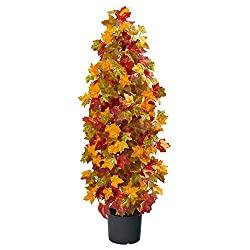 Autumn Maple Artificial Silk Tree